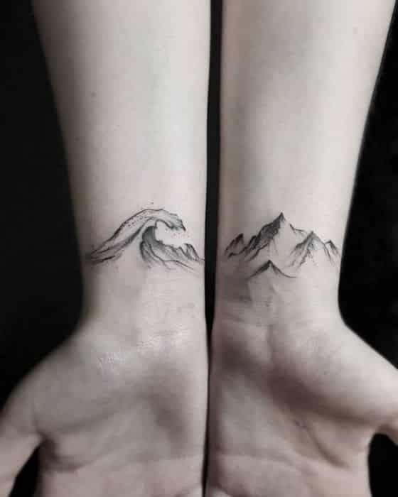 holas y montañas tattoo