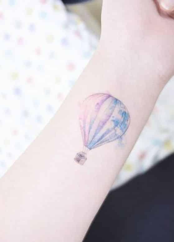 globo diseño tatuaje
