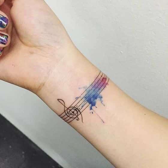 tatuaje nota musical