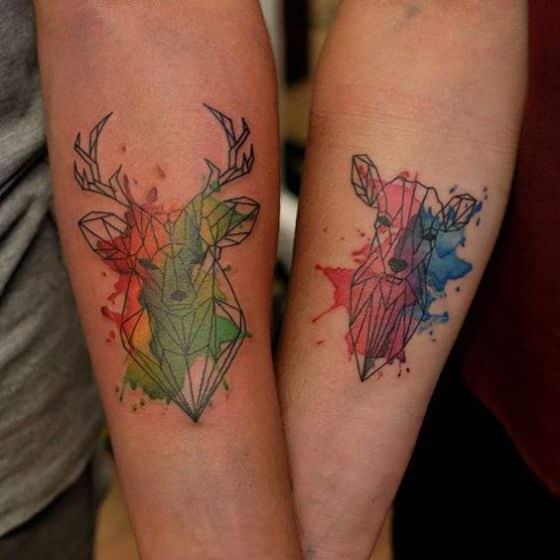 animales tatuaje pareja