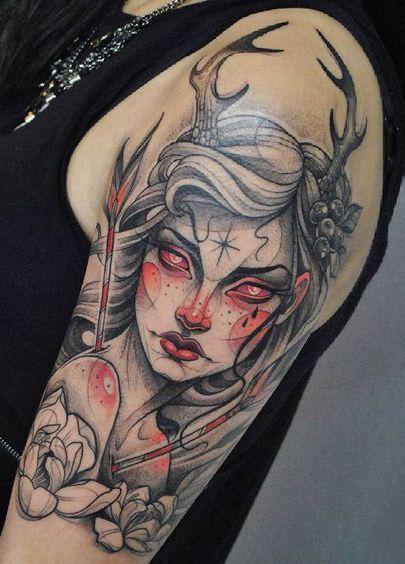 brazo tatuaje mujer
