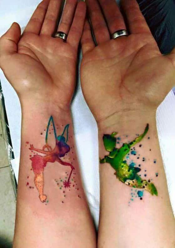 peter pan y el hada tatuaje de 2