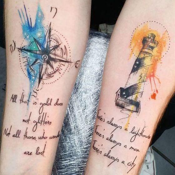 Tatuajes Para Parejas Disenos Y Significados Originales - Tatuaje-parejas