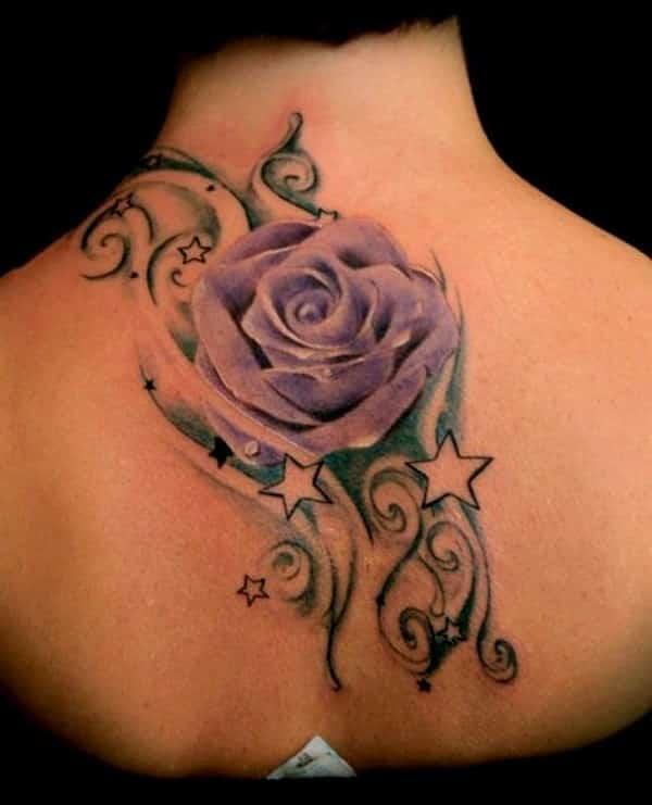 tatto de rosa para mujeres