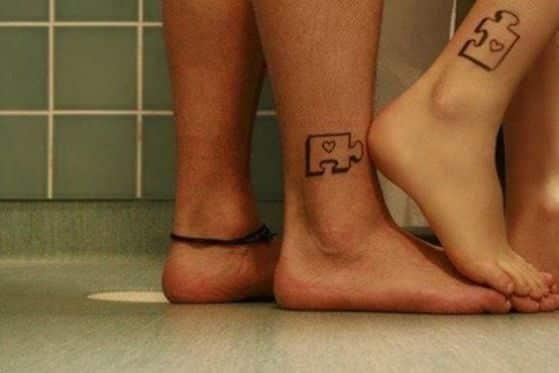 tatuaje en los pies para parejas