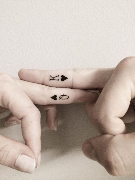 tatuajes en los de dos para parejas