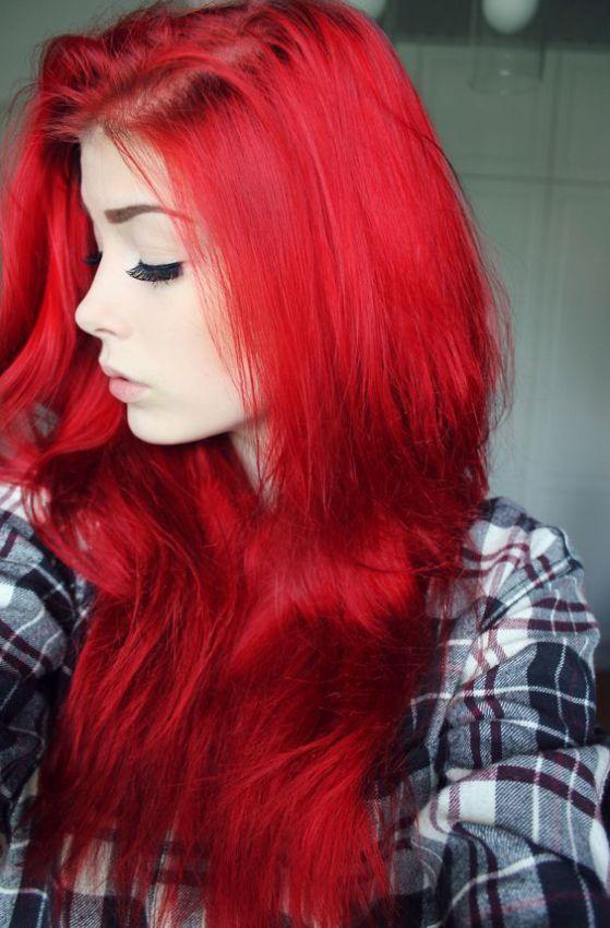 cabello rojo encendido