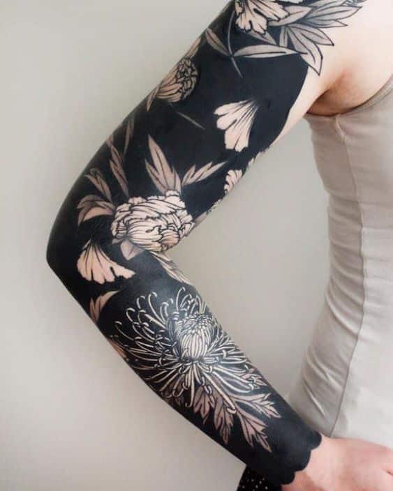 hombre brazo negro tatuaje