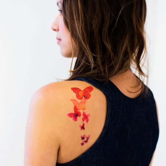 mariposas estilo tattoo