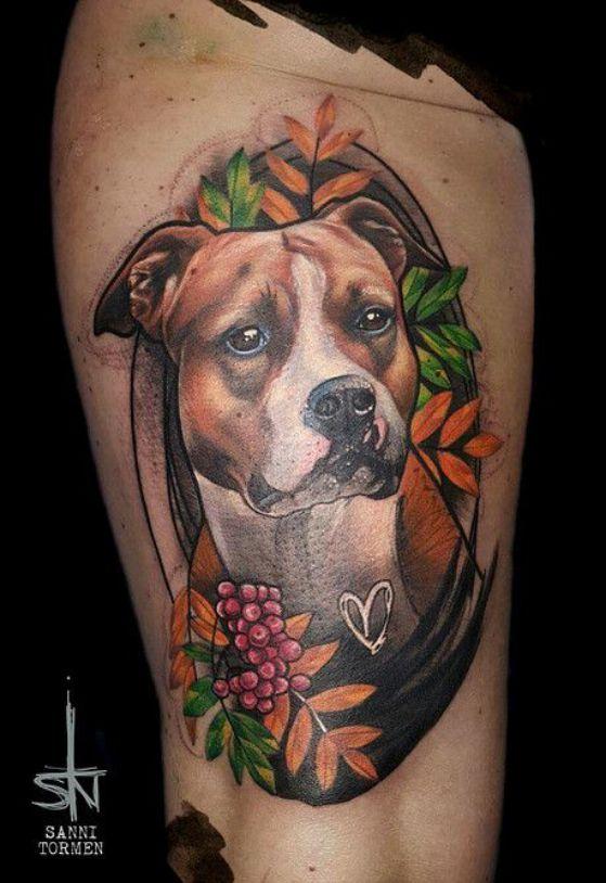 tattoo de perro en 3d