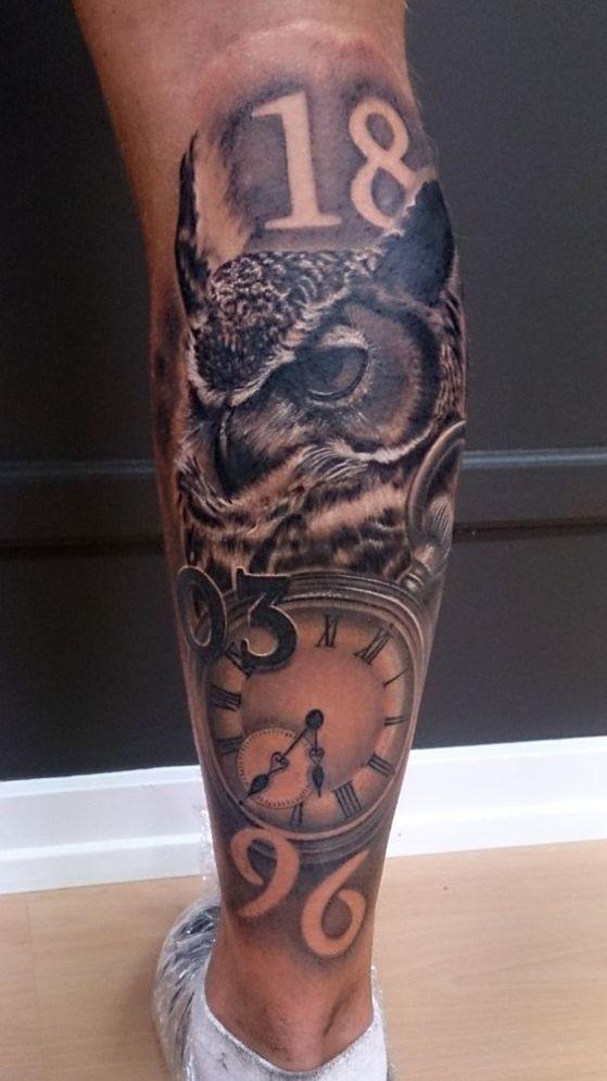 tatuaje buho realista