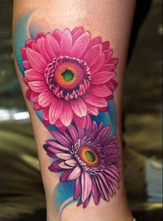tatuaje de flores realistas