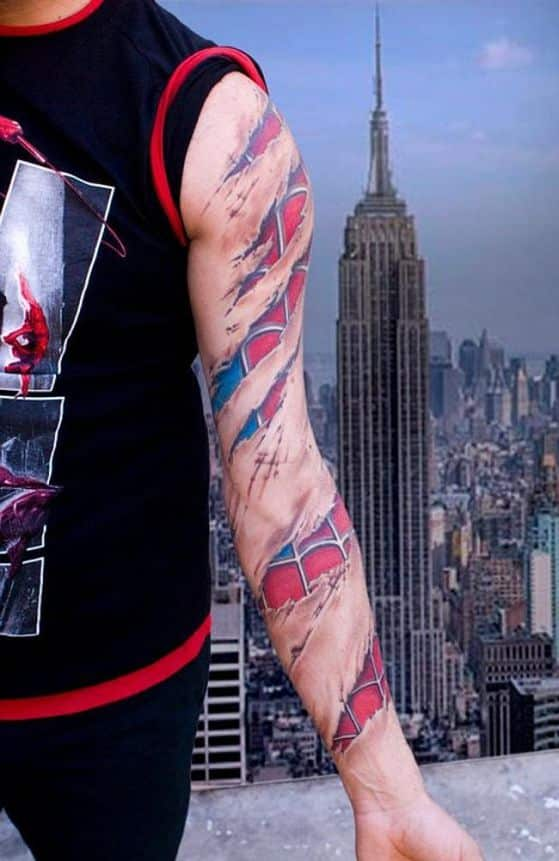 tatuaje de spiderman 3d
