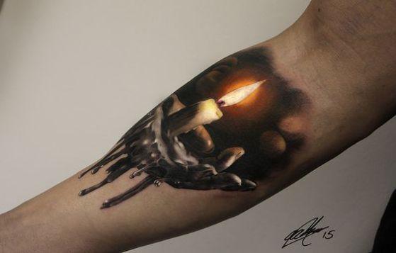 tatuaje de vela