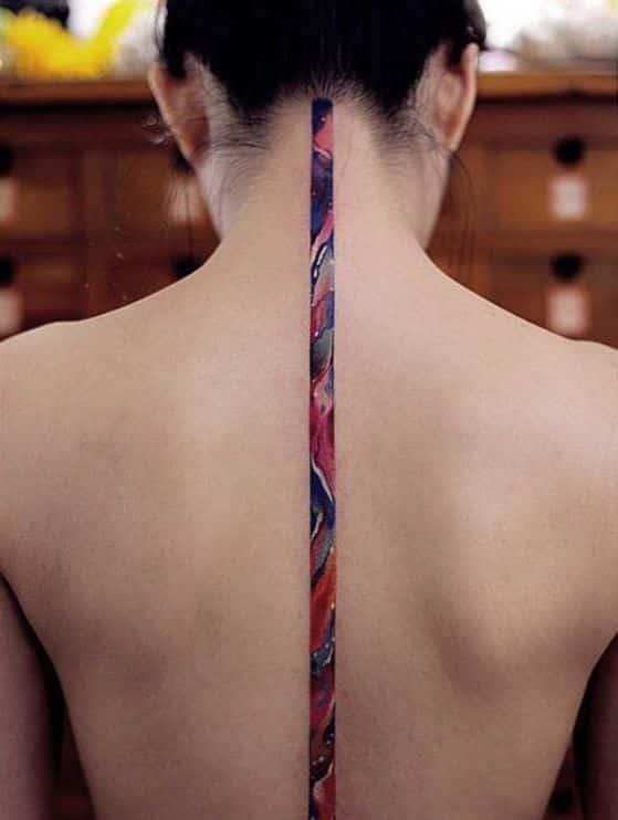 60 Tatuajes En La Espalda Para Mujeres Pequeños Delicados Y Más