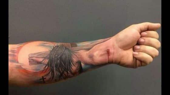 tatuaje jesus 3d