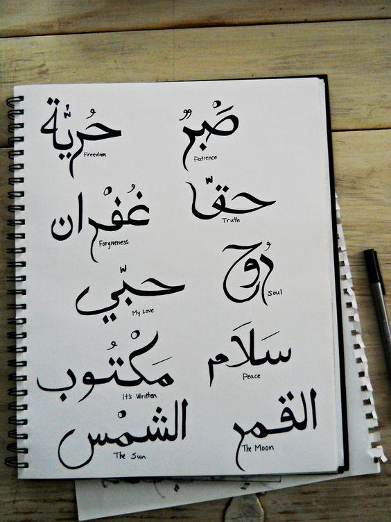 caracteres arabes para tatuaje