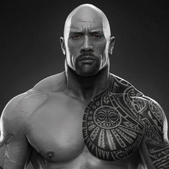 la roca tatuaje