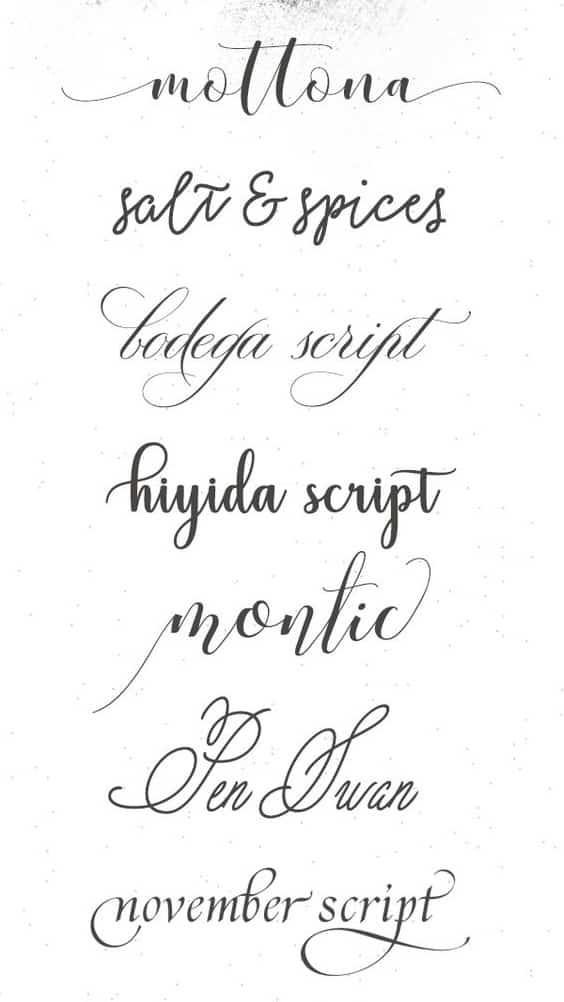 letra cursiva para tatuarse