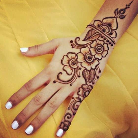 mano diseños de henna