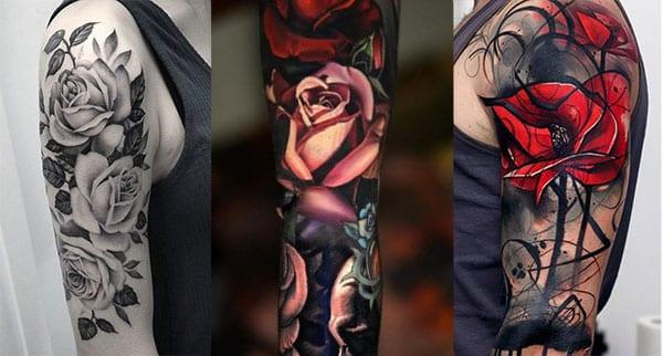 blnaco y negro mujer tatuaje 3