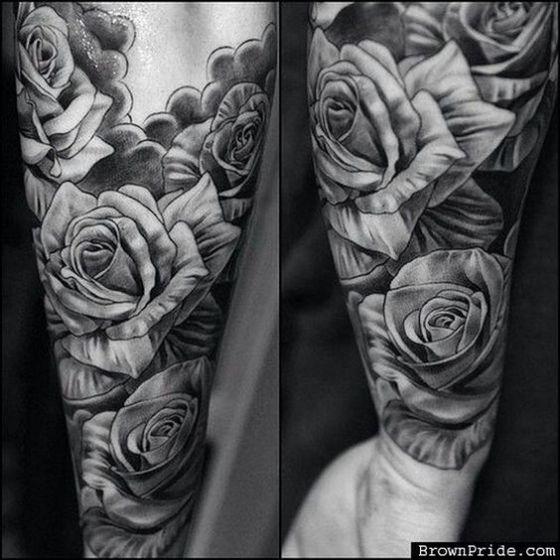 brazo rosa tatuaje