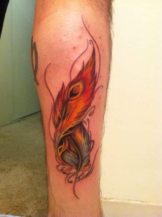 fenix pluma tatuaje
