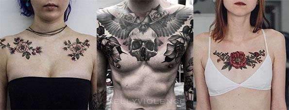 rosas pecho tatuajes varios