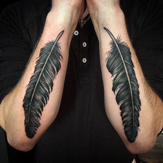 tatuajes de plumas para hombres