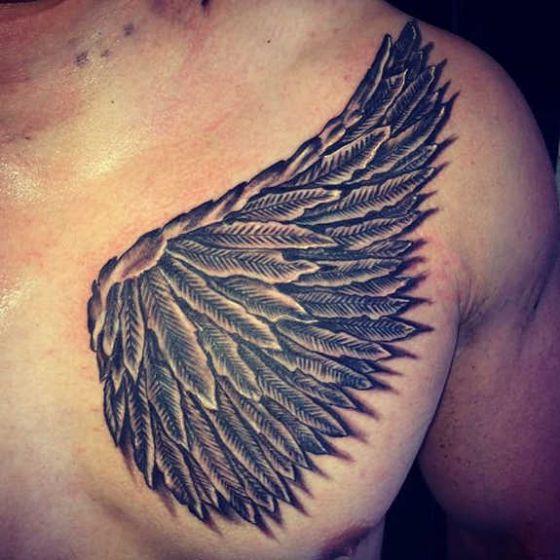 Alas tattoo 6 - Tatuajes de alas diferentes estilos a color, en negro y sus significados