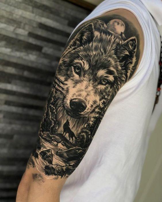 Tatuajes De Luna Y Lobo (11)