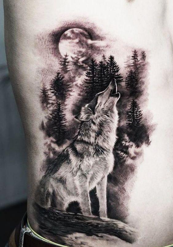 Tatuajes De Luna Y Lobo (18)