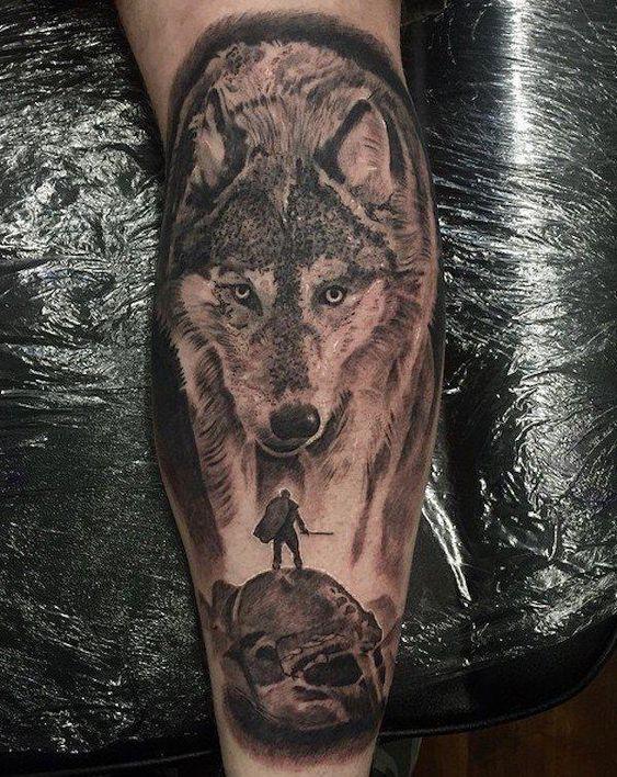 Tatuajes De Luna Y Lobo (4)
