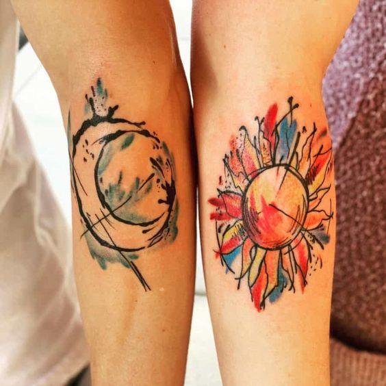Tatuajes De Luna Y Sol (2)
