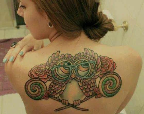 tattoos con diseño de buho (1)