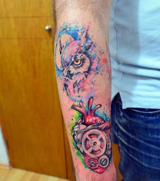 tattoos con diseño de buho (12)