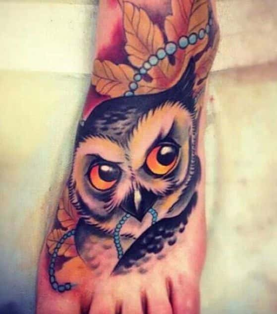 Tatuajes de Búhos diferentes diseños y significados