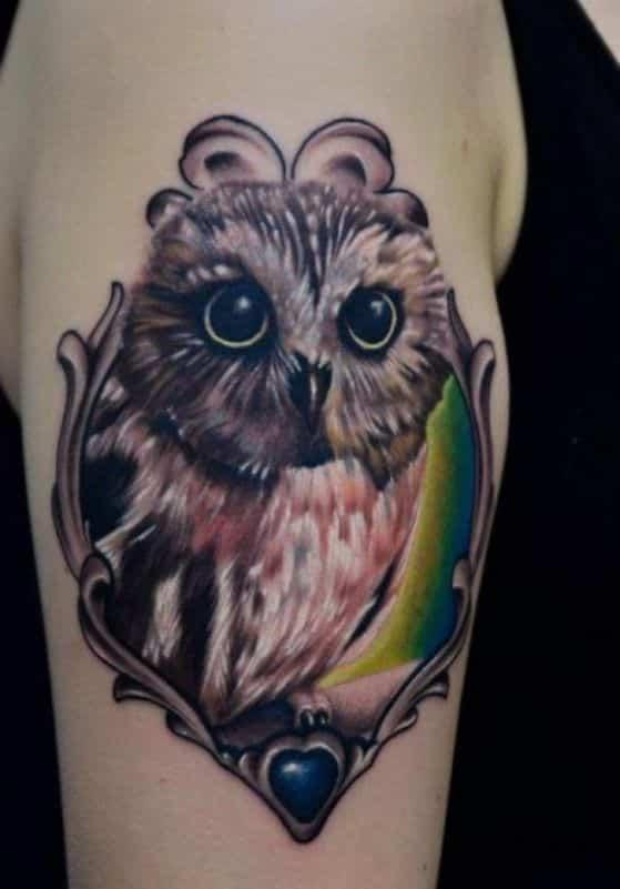 tattoos con diseño de buho (2)