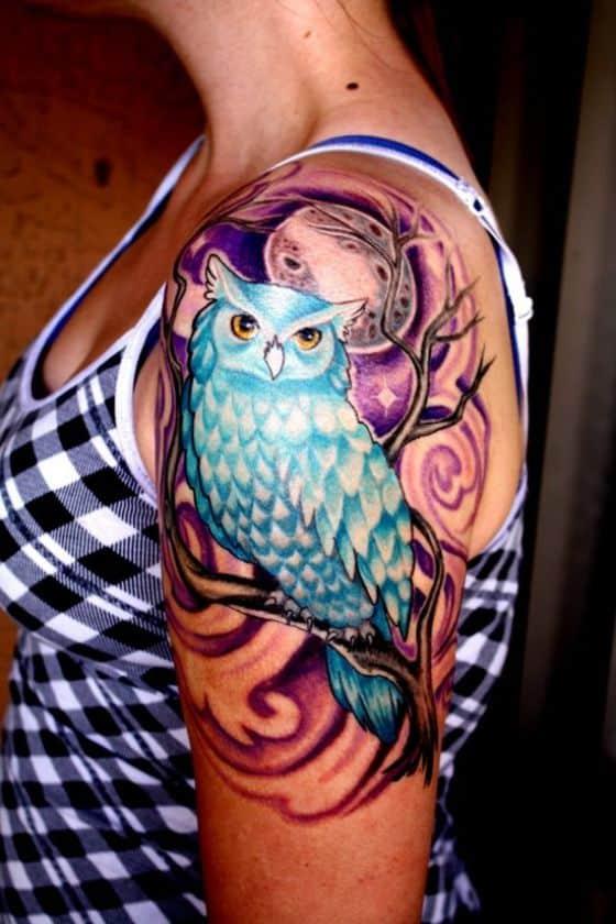 tattoos con diseño de buho (3)