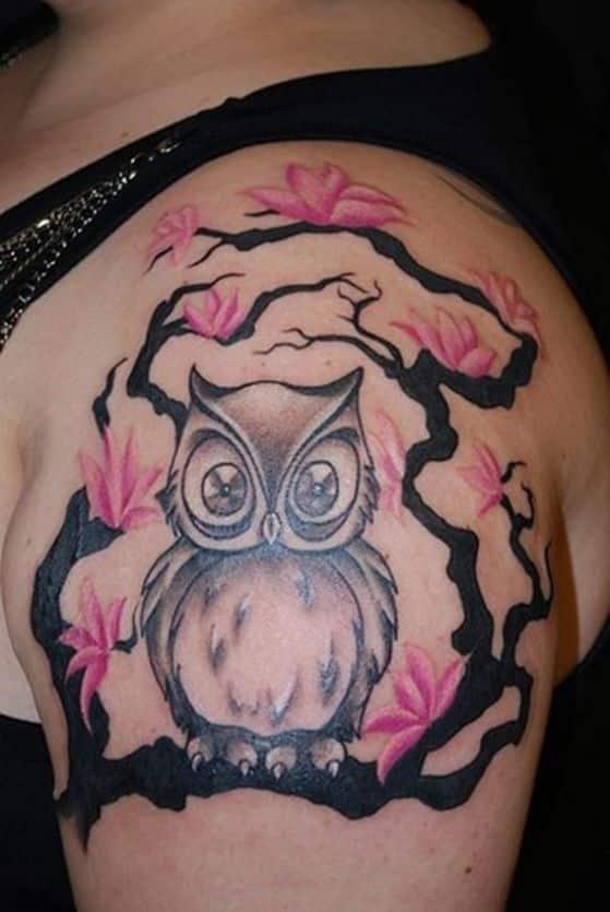 tattoos con diseño de buho (4)