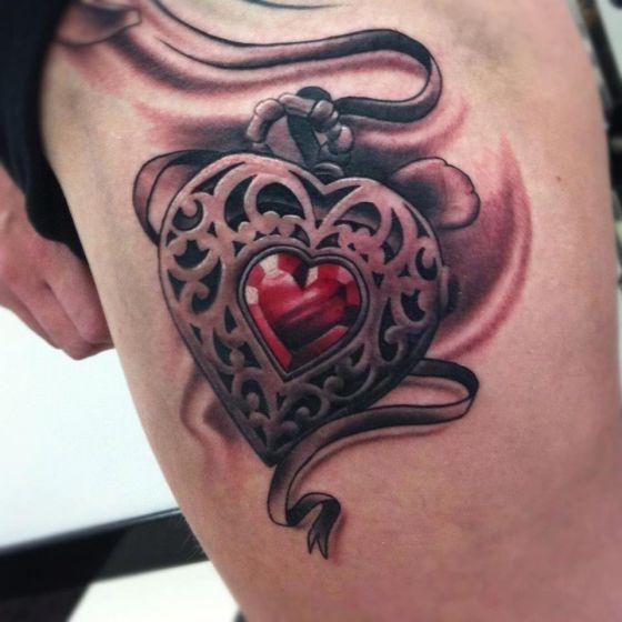 Tatuajes de Corazones Significativas muestras de Amor