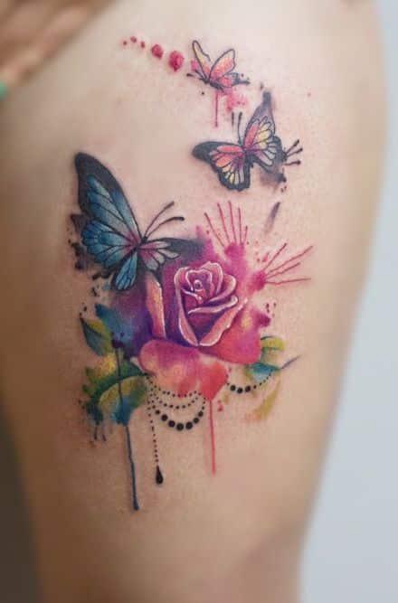 Tatuajes De Mariposas Diferentes Ideas Y Disenos A Color Y Negro - Mariposas-tatuaje
