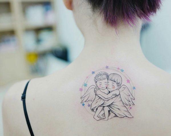 Tatuaje ángeles Alas