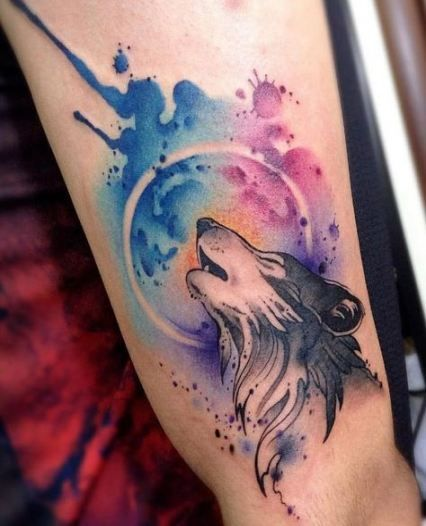 Tatuajes De Lobos a color
