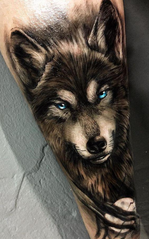 Tatuajes De Lobos realista