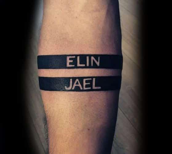 Tatuaje de nombres para chicos