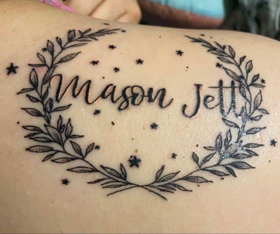 Tatuaje Estrellas Y Nombres