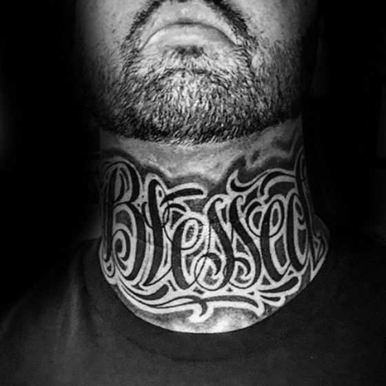 blessed tatto neck