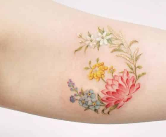 bonitas flores para tatujae