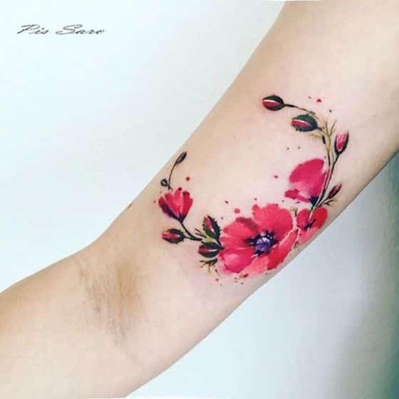 Tatuajes Flores Brazo Mujer Tatuajes De Rosas Para Hombres En El